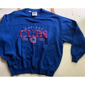 vintage embroidered Chicago Cubs sweatshirt